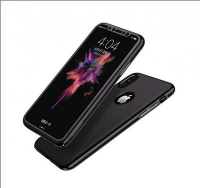 Carcasa Iphone x culoarea gri ( fata / spate ) foto