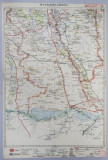 HARTA ZONEI CORABIA - CARACAL - SLATINA , LITOGRAFIE de M.D. MOLDOVEANU , 1936