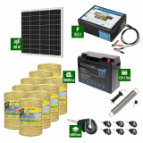 Pachet Gard electric 8,5J putere cu Panou Solar si 9000m de fir 160Kg