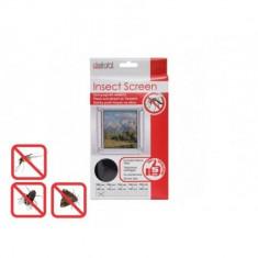 Plasa anti insecte pentru ferestre, Globiz, 100x100 cm 11600 Neagra, 190051 GLZ