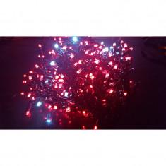 Instalatie de Craciun, 8 m x 1 m, Perdea FLASH, Rosu, 384 leduri, rezistenta la apa, SDX 8040R, perdea luminoasa de exterior