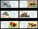 Romania 2007, LP 1771 a 1771 b, Rate si gaste salbatice, serie cu vignete, MNH!, Fauna, Nestampilat