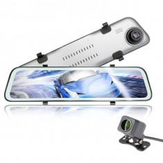 Camera Auto Dubla Oglinda iUni Dash M12, 2K, Display Touchscreen 11.6 inch, Night Vision, Detectia miscarii