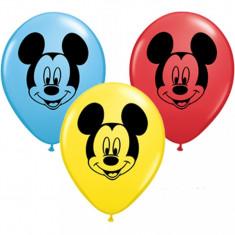 Baloane mici Mickey Mouse din latex 13 cm set 50 buc