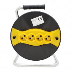Cumpara ieftin Tambur pentru rulat cablul electric Micul Fermier, 4 prize