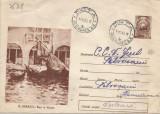 România, N. Dărăscu, Bărci la Veneţia, întreg poştal circulat intern, 1966