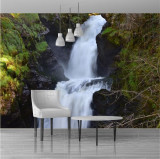 Fototapet cascada din padure 150 x 100 cm - Hartie foto fara adeziv