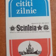 calendar de buzunar din anul 1986