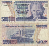 1994 , 500,000 turkish lira ( P-208c ) - Turcia