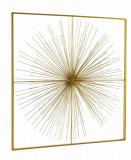 Decoratiune de perete din metal Auriel Large Auriu, l90xA6,5xH90 cm