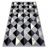 Covor BCF Base 3987 Trigone, triunghiurile, pătrat, geometric gri / fildeş, 140x190 cm