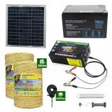 Gard electric cu Panou solar 3,1J putere cu 2000m Fir 160Kg cu acumulator 12Ah