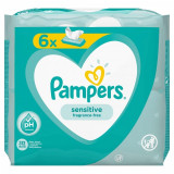 Servetele umede Pampers Sensitive 6pk, 6 x 52 buc