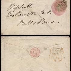 Great Britain 1854 Postal History Rare Victoria Cover D.273