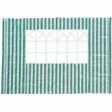 Perete pavilion verde cu dungi albe