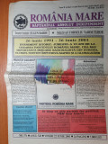 Ziarul romania mare 22 iunie 2001-10 ani de la crearea partidului romania mare