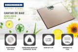 Cumpara ieftin Cantar de persoane Heinner HBS-180SSGD, 180kg, platforma din inox colorat, 30 x 30 cm, display LCD,