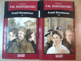 FRATII KARAMAZOV , VOL. I - II de F. M. DOSTOIEVSKI, PREZINTA PETE PE BLOCUL DE FILE INSA NU AFECTEAZA INTERIORUL CARTILOR