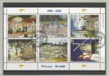 Olanda, 50 ani de existenţă a oraşului miniatural Madurodam, bloc, oblit., 2002, Stampilat