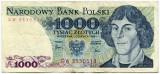 Bancnota Polonia 1000 zloti 1982