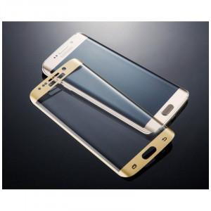 Folie Sticla Curbata Samsung Galaxy S7 Edge Flippy Full Glue 4D/5D Auriu