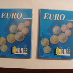 "CY - Lot 2 coperte / coperti ""LINDNER"" pentru set monede EURO"