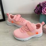 Cumpara ieftin Adidasi roz textili foarte usori cu scai pt fete marimea 28