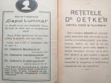 RETETE DR.OETKER'S, CCA 1930/ RETETE DE BUCATARIE, DULCIURI