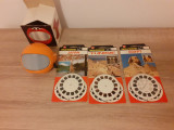 Cumpara ieftin Aparat stereoscopic rotund diapozitive circulare, Belgia si 3 seturi diapozitive