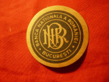 Vigneta Postala BNR - Banca Nationala a Romaniei , interbelica , d=3,7cm