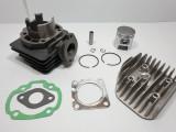 Kit Cilindru Set Motor + Chiuloasa Scuter Aprilia Habana 49cc 50cc Racire AER