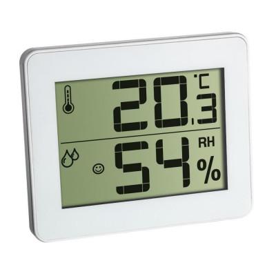 Termometru si higrometru digital de camera TFA, extra-plat, alb foto