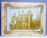 TAIETORI DE LEMNE LA ORSOVA , FOTOGRAFIE DE GRUP , PE PASPARTU DE CARTON , DATATA 1926