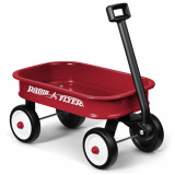 Carucior de tractat Radio Flyer Little Wagon, Rosu