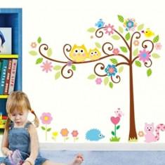 Sticker camere copii Bufnite pe creanga