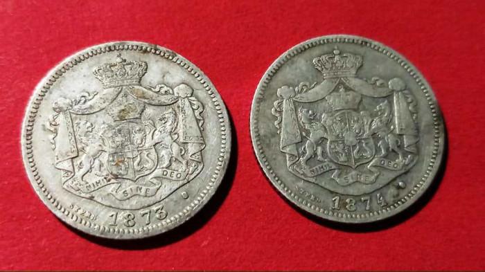 1 leu 1873 și 1 leu 1874. Preț 1100 lei amândouă.
