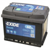 Baterie auto Excell 62Ah, 540A, 60 - 80, Exide