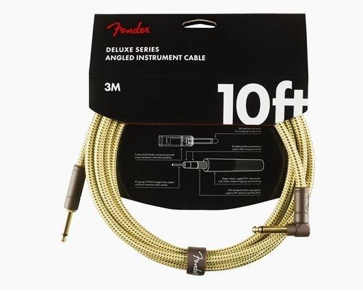 "Cablu Fender Deluxe Instr. 10"" Angled Tweed"