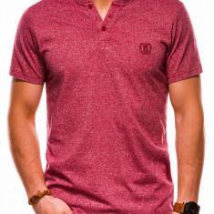 Tricou slim fit barbati S1047 - rosu