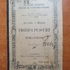 manual 1895- cronica pe scurt a romanilor-editiune scolara