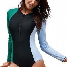 SW1716-1112 Costum de baie intreg de surfing, cu fermoar in fata, M, M/L, S, XL, XXL