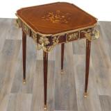 Masa din lemn masiv furniruit cu aplicatii din bronz  CAT-Louis-Table, Mese si seturi de masa