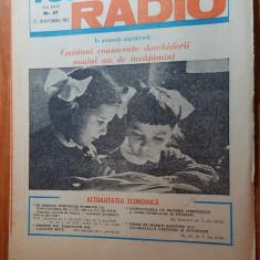 revista tele-radio saptamana 12-18  septembrie 1982