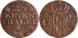 1782 - A - 1/24 thaler - Friedrich II - Regatul Prusiei Ag. ( .222 ), Europa
