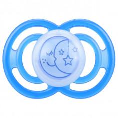 Suzeta ortodontica din silicon 6+ luni MAM Perfect Night 005AAALA, Albastru