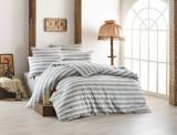 Lenjerie de pat - single EnLora Home, 162ELR1360, bumbac 65 procente, poliester 35 procente, 160 x 240 cm