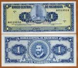 !!! NICARAGUA  -   1  CORDOBA  1968  -  P 115  -  UNC