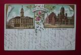Romania Salutari din Cernauti litho, Circulata, Printata
