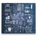 Cumpara ieftin Placa din sticla protectie perete/plita, Lovely Kitchen, L56xl50 cm