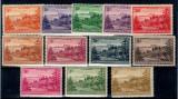 Norfolk Island 1947 Ball Bay serie incompleta, neuzata
